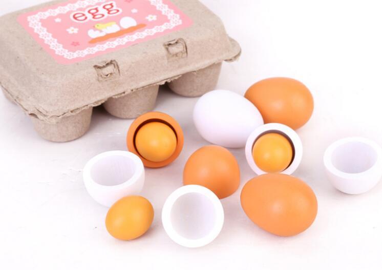 子供用品★知育玩具★おもちゃ・ホビー★イースター 遊びもの 木製タマゴ 6個