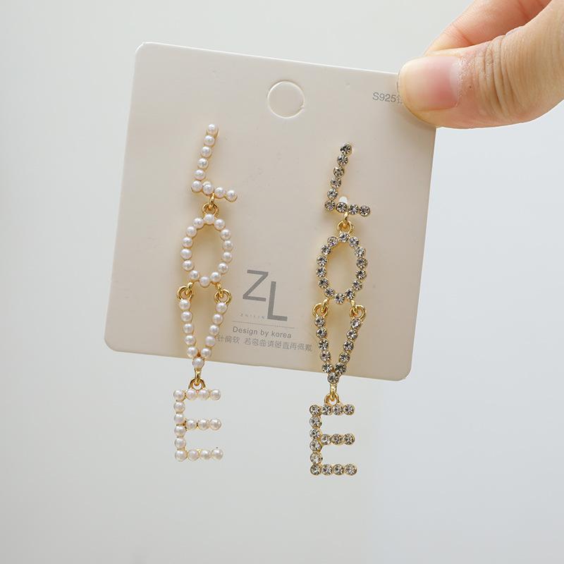 【925銀針】・ピアス・イヤリング・LOVE・気質・レディース高級感あり・アクセサリー・ファッション