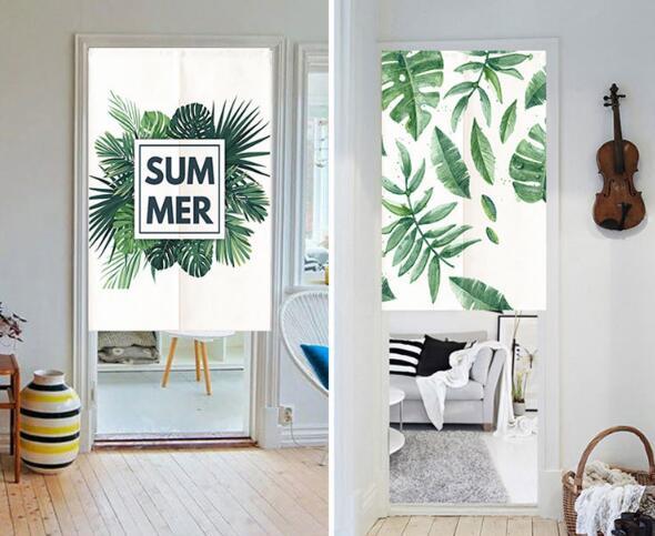 人気商品★ カーテン★ のれん 暖簾★ 観葉植物 ★シンプル インテリア装飾★6色3サイズ選べる