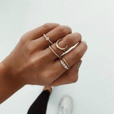 同梱でお買得★素敵★可愛いリング★アクセサリー★女性の指輪★可愛い5点セット