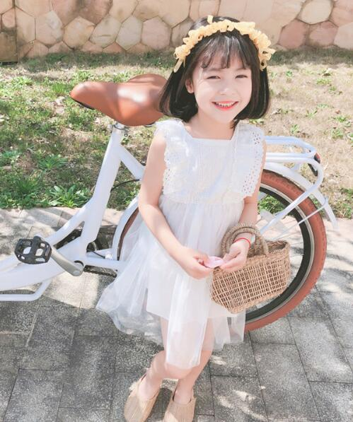 2020★夏新作★おしゃれ★純色★ワンピース★子供服★スカート★半袖★ドレス★2色7-19