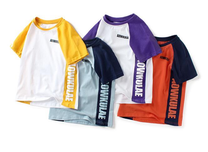 激安!2020新品★キッズファッション★子供服★Tシャツ★シャツ★半袖★男の子★4色120-160