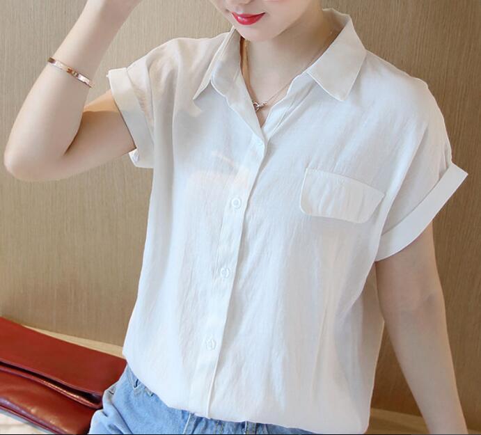 2020★夏新品★ファッション★シンプル★ブラウス★ワイシャツ★純色★大きいサイズ★4色M-3XL