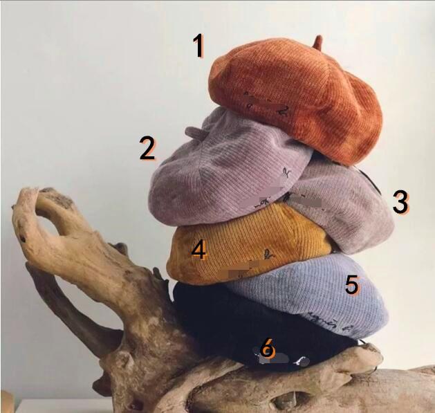 2020年新品★新しいスタイル★★親子帽 可愛いハット ベレー帽子★6色