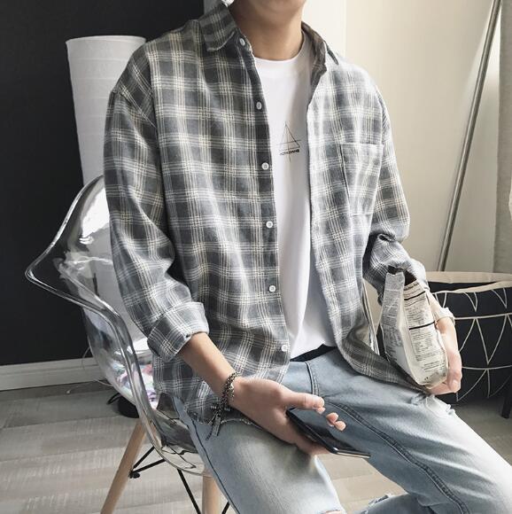 2020年新作★メンズ★トップス★長袖★シャツ★かっこいい★カジュアル★韓国風★2色★M-XXL