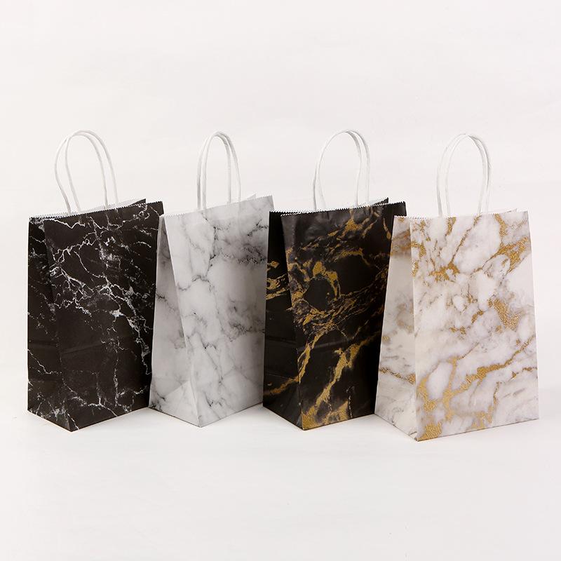 【包装資材】可愛い紙袋★小物入り★クラフト紙★ハトロン紙の袋★大理石紙袋