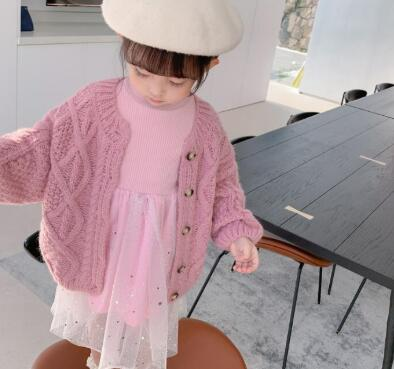 新作★大人気アパレル★女の子子供服★キッズ服★トップス★セーター★カーディガン