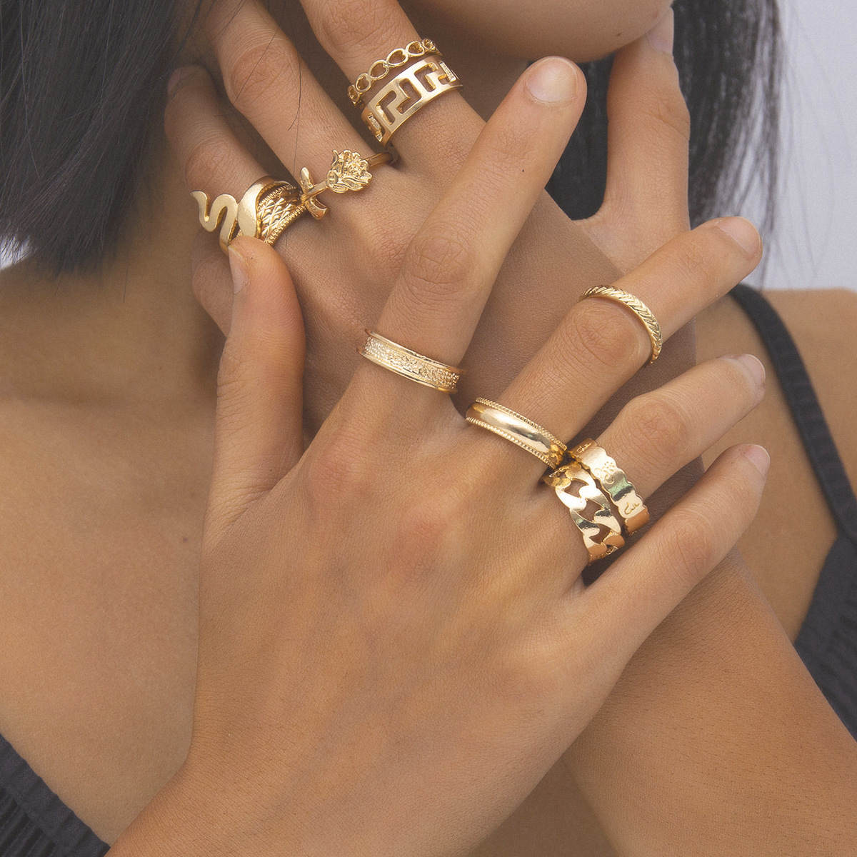 レディース指輪★アクセサリー★個性★気質★リング★指輪10点セット☆彡
