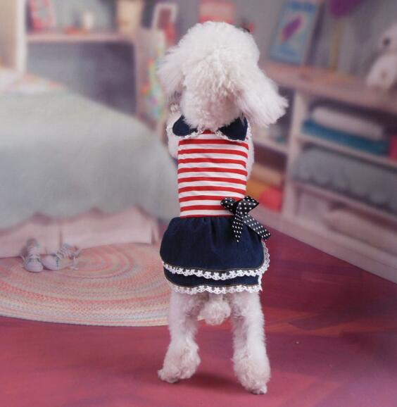 2021年新作★素敵なペット服★可愛い★秋冬★縞柄★スカート★犬服★愛犬大変身★XS-XL