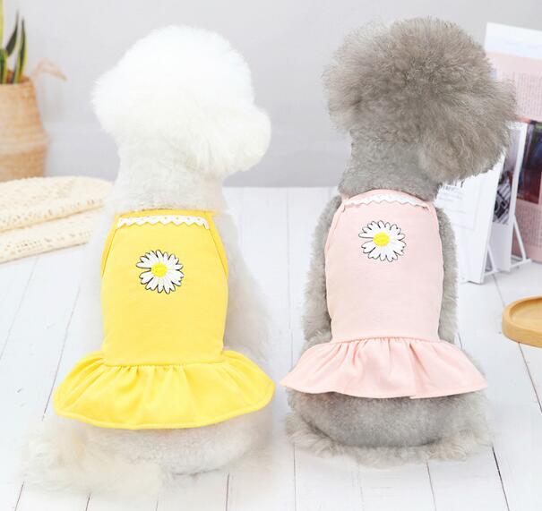 2021★春夏新作★ペット服★犬服彡★猫犬用品★ベスト★菊★3色XS-XL