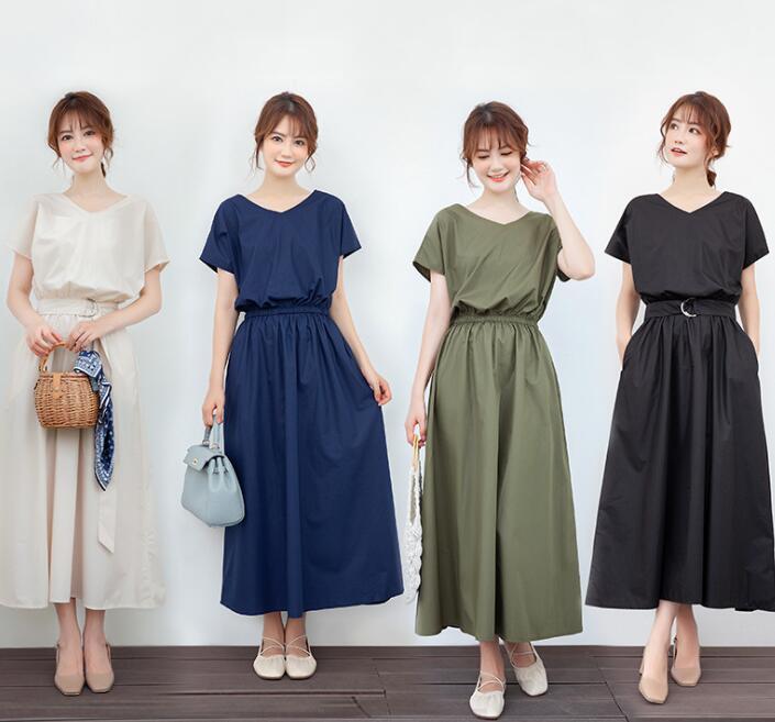 レディースファッション★トップス ワンピース 4色 M-XL