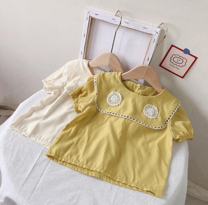 2021夏新作★韓国子供服★シャツ★子供服★キッズ女の子★キッズ★2色★80-130CM