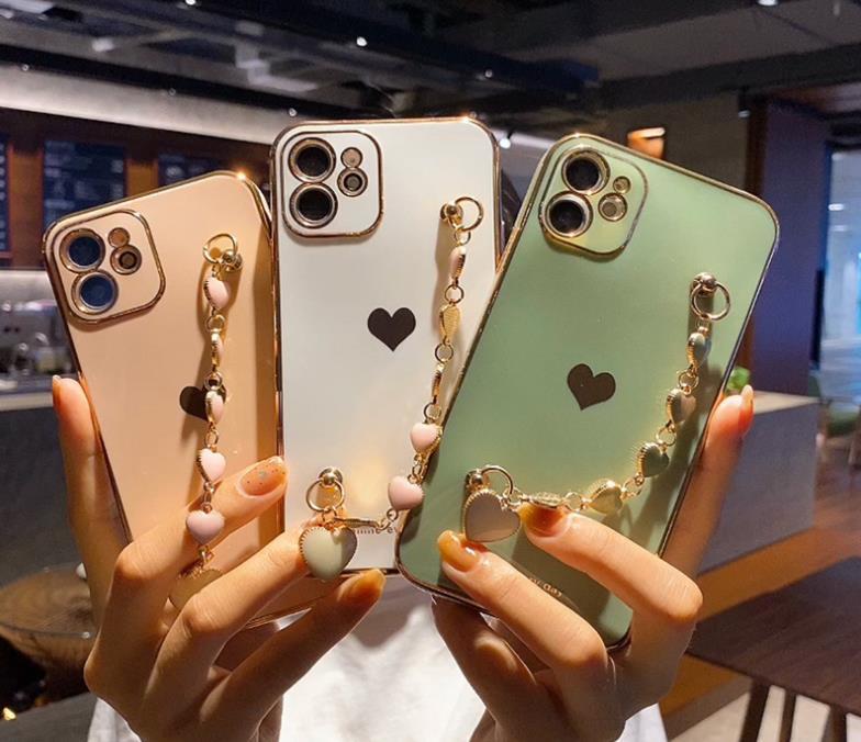 2021 新作 アップル11 携帯電話ケース promax 精孔 xsmax xr/78 愛ブレスレット ケース