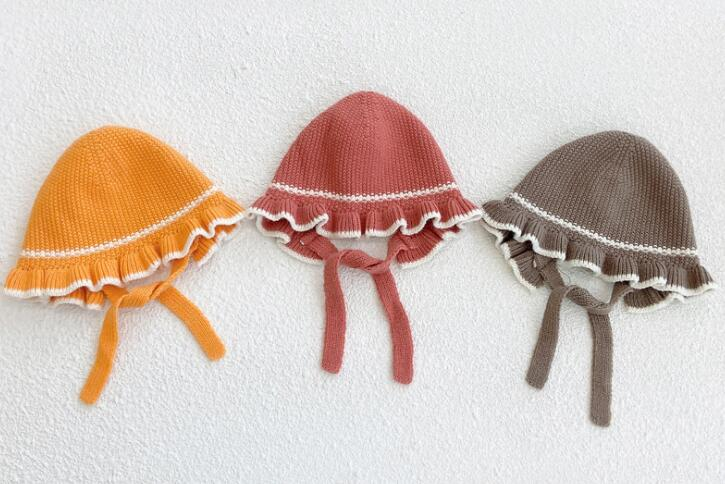 新品/キッズ帽子/子供帽子/ベビー帽子/ニット帽子/日除け帽子/折りたたみ可能/6色