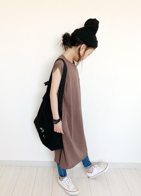 2020年キッズファッション★★子供  袖なし ワンピース 2色★90-140cm