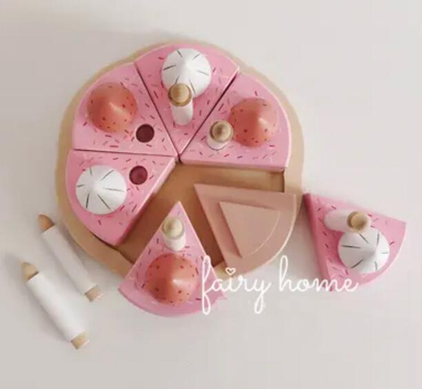 子供用品★知育玩具★おもちゃ・ホビー★遊びもの 木製ケーキ