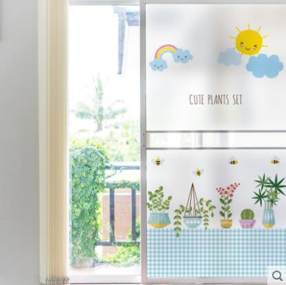 新作★DIY壁紙★壁ステッカー★貼り紙★ガラス用★5サイズあり