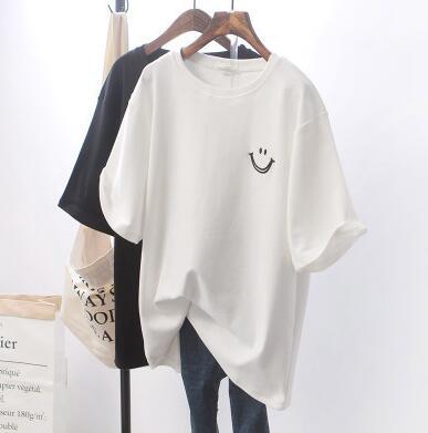 レディーストップス・ファッション・笑顔・人気・上着・Tシャツ・2色・夏新作