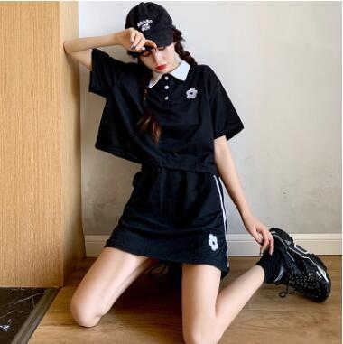 2020★夏新品★人気スーツ★ファッション★Poloシャツ+スカート★純色