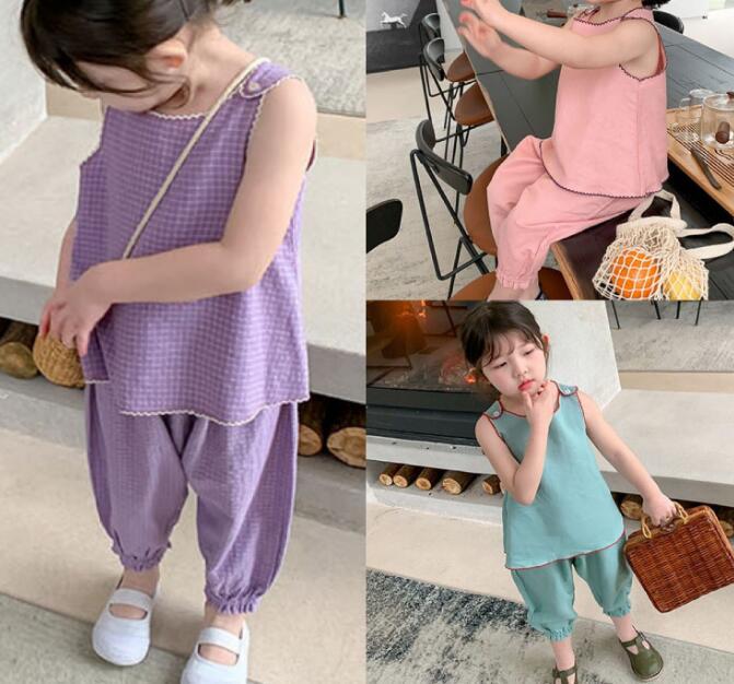 2020★夏新品★ファッション★スーツ★ベスト+ロングズボン★2セット★純色★子供★3色7-15