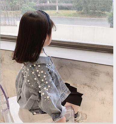 2020年新作★春秋新作★レジャー★春秋子供服★デニム長袖コート★7-15★