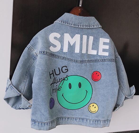 2020★秋新品★ファッション★笑顔★デニムのコート★長袖★外套★子供★7-15