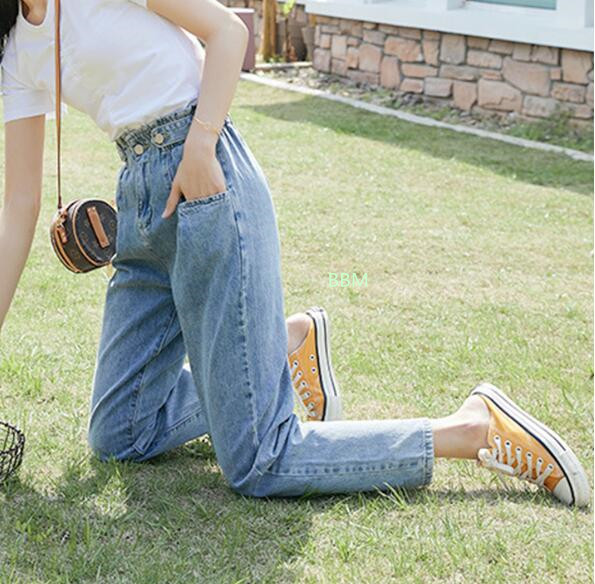 2020★秋冬新作★ファッション★デニムのズボン★着痩せ★ロングパンツ★ジーンズ★2色S-XL