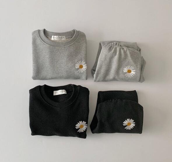 2020年冬★可愛い ベビー服  トップス+パンツ 厚手 裏起毛付きセットアップ★身長向け66-90