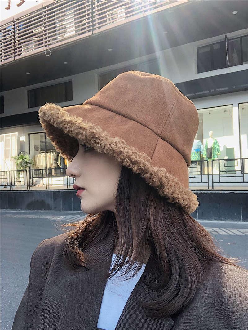 秋冬新作/韓国風/大人帽子/毛系帽子/レディース向け/暖かい/ 漁師帽