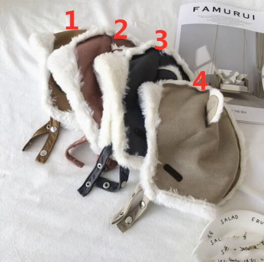 新入荷★秋冬 帽子 可愛いハット★ふわふわ★保温帽子★バレー帽★4色