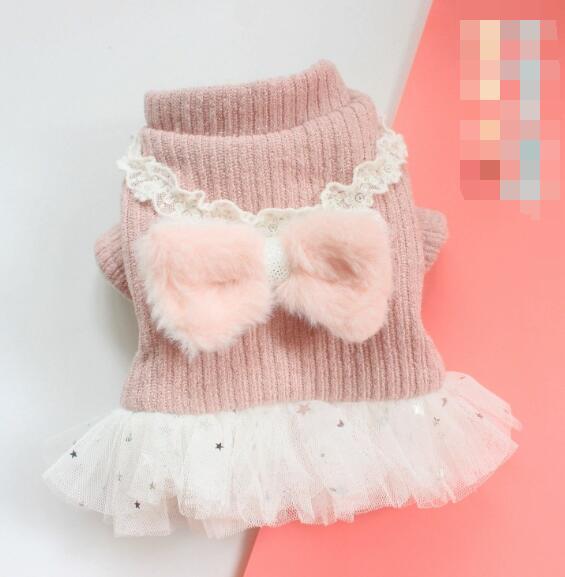 2020年新作★素敵なペット服★可愛い秋冬ニットスカート犬服★愛犬大変身★XS-XL