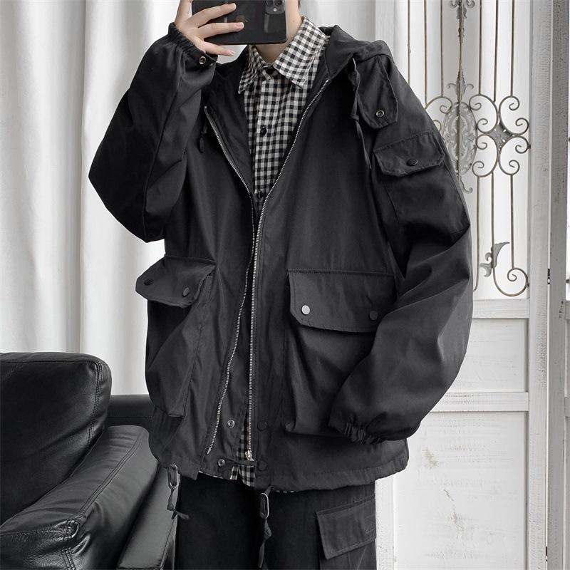トップス・アウター・2色長袖・ジャケット・ゆったり・パーカー・メンズ・ファッション・新品