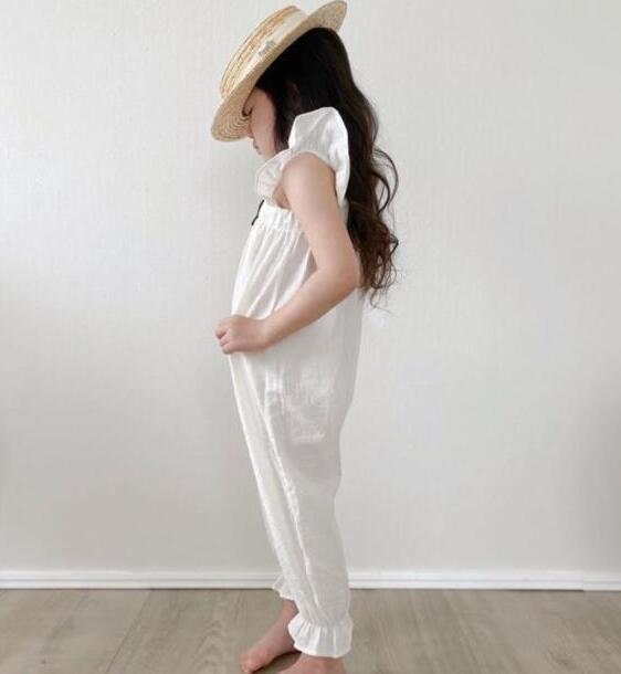 2021新品★春夏★子供服 リネン・サロペットパンツ 連体服★80-120cm★