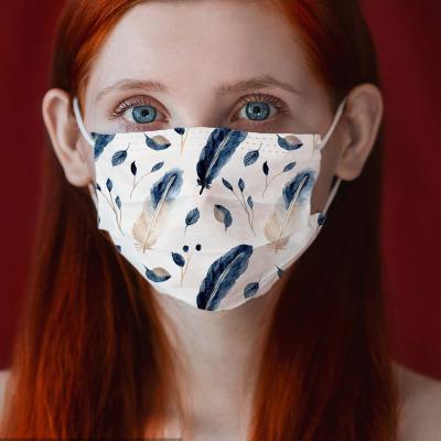 不織布マスク★★3層構造★使い捨て★防塵★防細菌★花粉★大人用マスク★2021新作