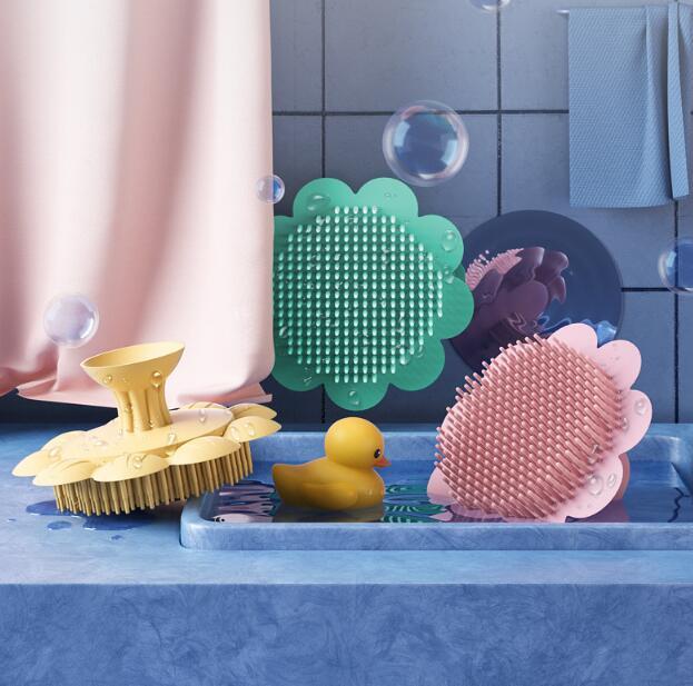 ベビー用品 ブラシ 子供ヘッドブラシ シャワーブラシ 子供用品 キッズ用品 柔らか