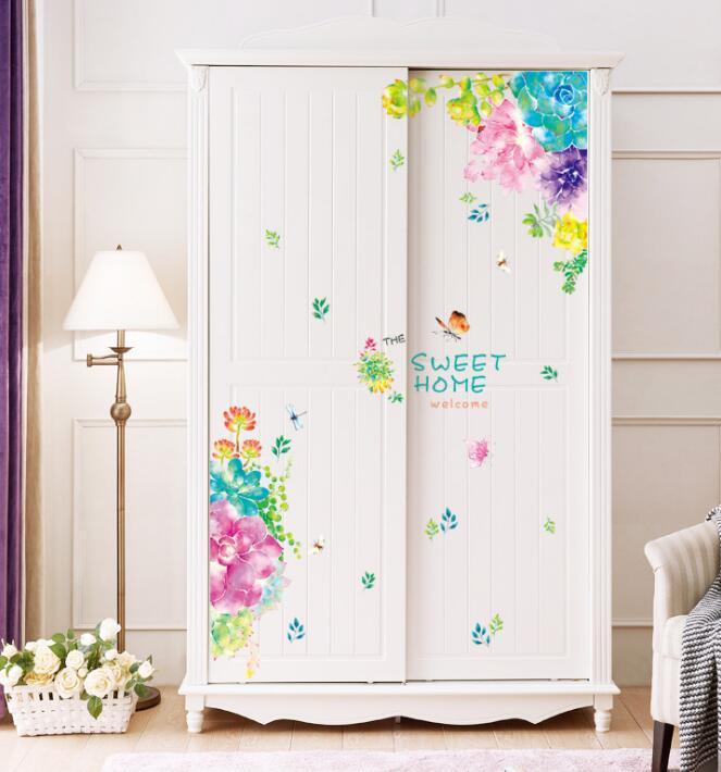 人気商品★DIY壁紙★ドア 窓 冷蔵庫 貼り紙★室内装飾★シール式★壁装飾★ 60*90CM