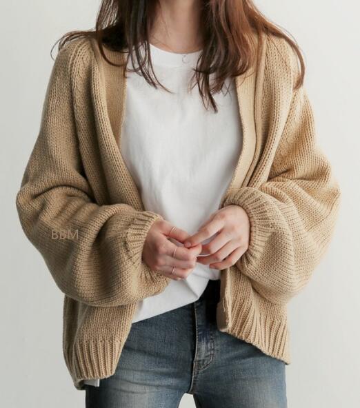2020★秋冬新作★高くない★外套★メリヤス★コート★カーディガン★セーター★長袖★3色