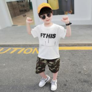 夏新入荷★キッズ男の子★トップス★Tシャツ+ショートパンツ★セットアップ★90-140CM