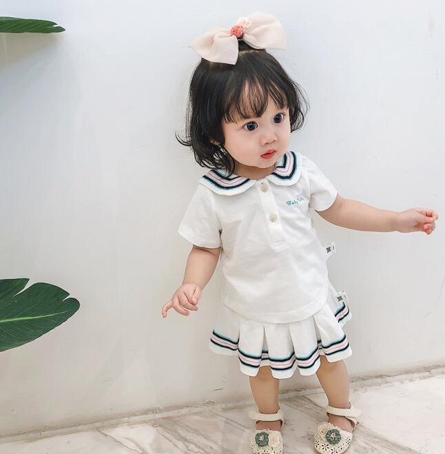 2020年夏新入荷★可愛いキッズ服★ベビー服 セットアップ トップス+スカート★身長向け66-100