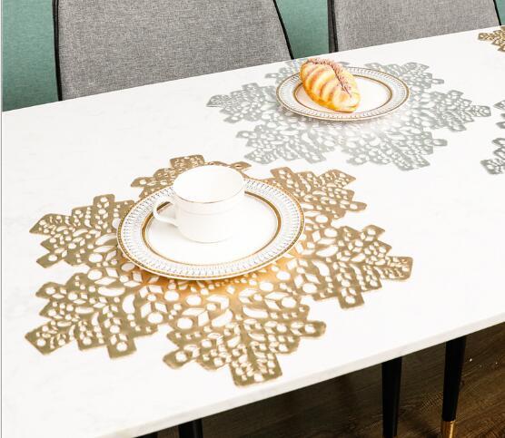 *雪造型*コップコースター★コーヒー コースター★テーブルマッド★北欧風★滑りにくい PVC素材