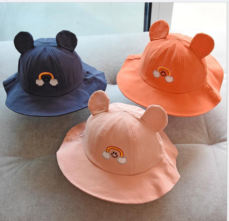 新作★同梱でお買得★春夏帽子★子供帽子★防UV★可愛い帽子★女の子向け★漁師帽子