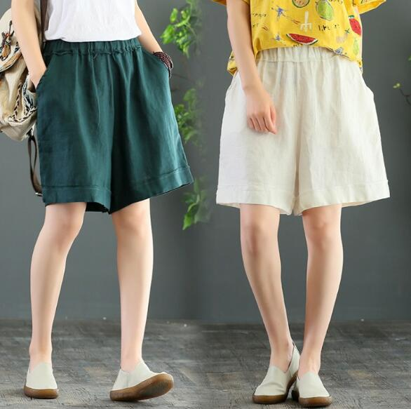 2020★夏新品★カジュアル★大きいサイズ★ハーフ★ワイドズボン★パンツ★純色★3色M-2XL