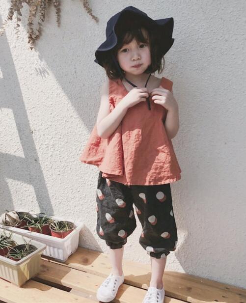 2020★夏新品★おしゃれ!★スーツ★ベスト+ショートズボン★袖なし★純色★子供★2色7-15