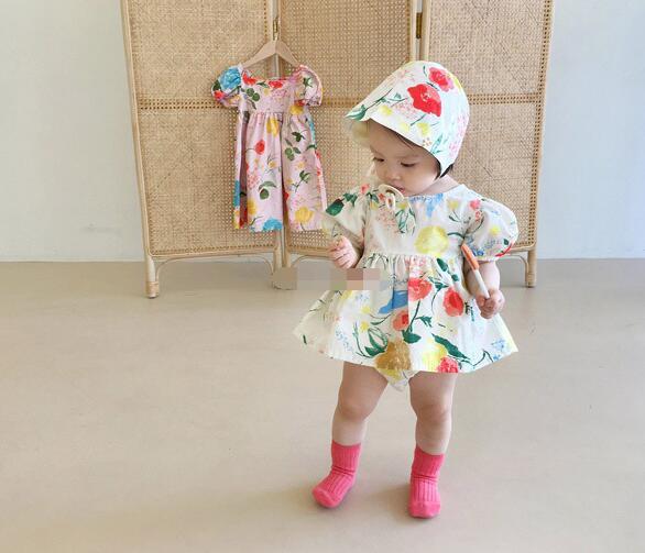 2020年夏新入荷★ベビー服 ロンパース 薄い涼しい 帽子付き★身長向け66-90★