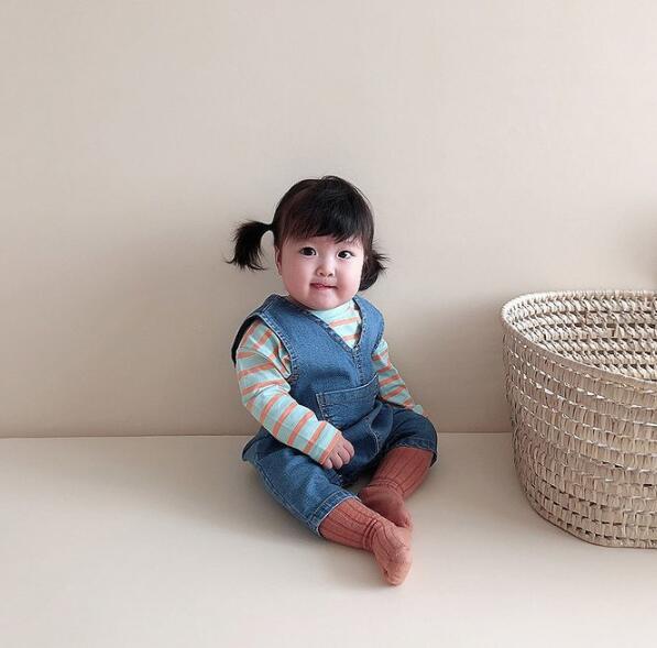 2020年春秋向け★ベビー&キッズ服 ロンパース デニム連体服★66-90★