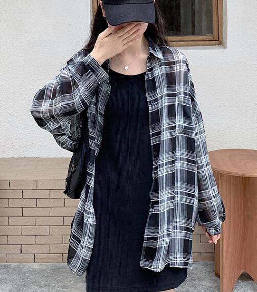 2020★秋新品★ファッション★チェックのブラウス★薄手★シャツ★日焼け止め★長袖★S-XL
