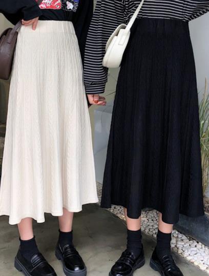 2020年新作★レデイース高級感あり★ファッション★ニット★A字★ハイウエストスカート★