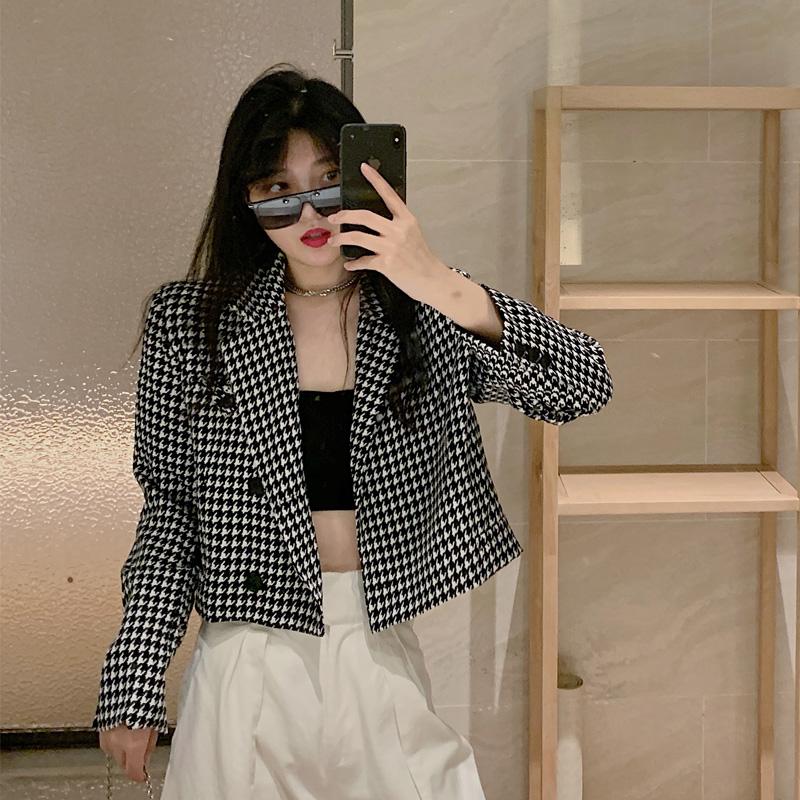 コート・格子柄・長袖・レディース・ファッショントップス・可愛い新品
