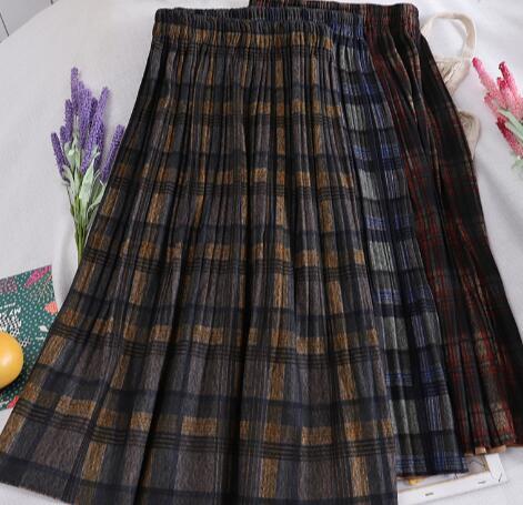 2020年新作★レディースウェア★欧米風★格子★スカート★素敵な★ラシャスカート★