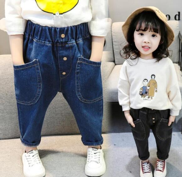 新作登場★キッズボトムス★デニムズボン★パンツ★ジーンズ 80-120
